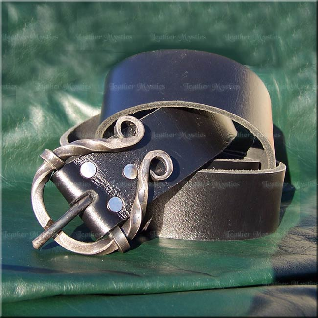 forged leather belt buckle street belt
