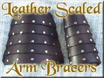 black scaled armor bracers for sca renaissance faires garb and costumes