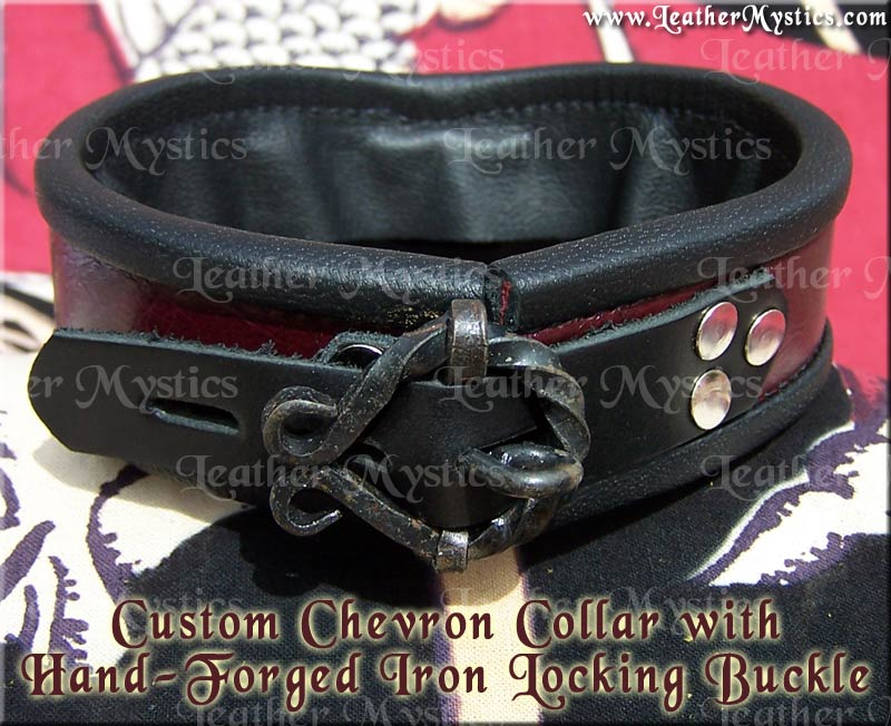 made in usa custom leather collar boy girl bondage submissive