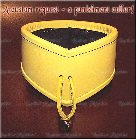 custom leather slave collar