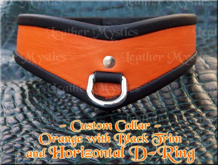 custom leather adult women men collar slave pet submissive girl boy