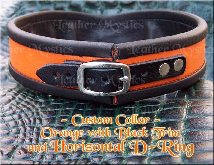 custom leather collar for men slave pet submissive girl boy