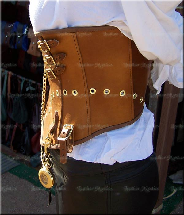 steampunk bodice leather