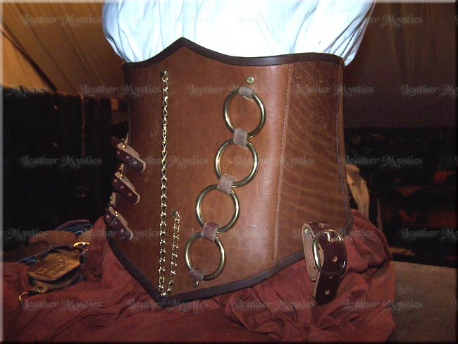 steampunk leather corset steam punk