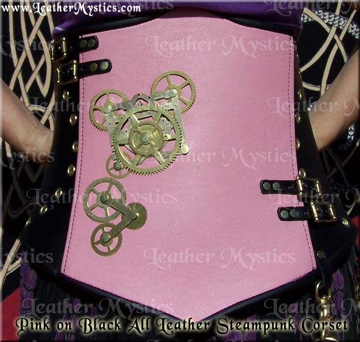 steampunk hidden mickey corset leather