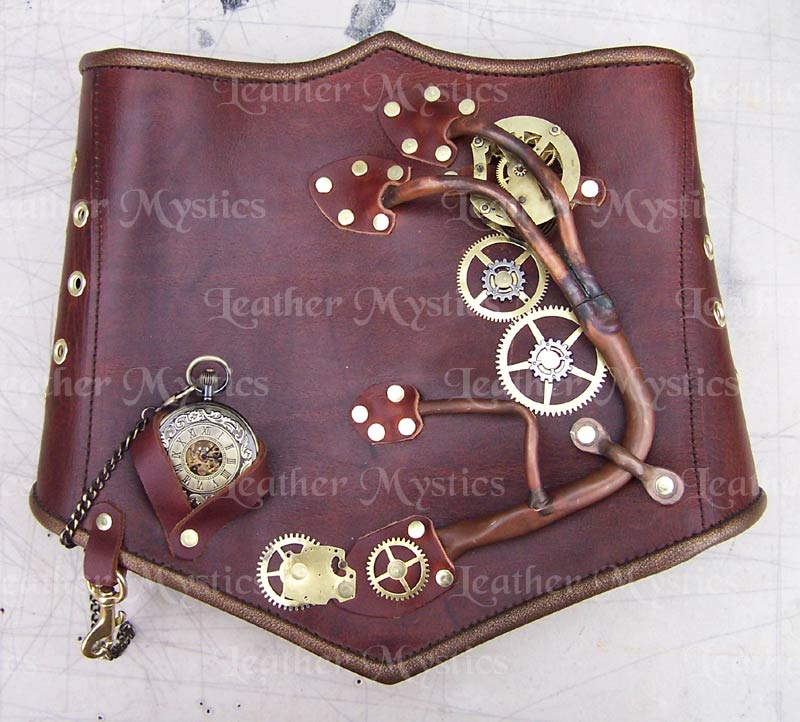 steampunk corset costume leather custom bodice western cosplay