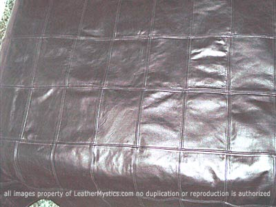 leather duvet squares