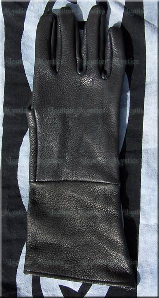leather guantlets gloves