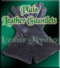 renaissance leather fencing gauntlets plain