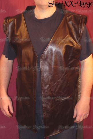 pirate leather jerkin vest