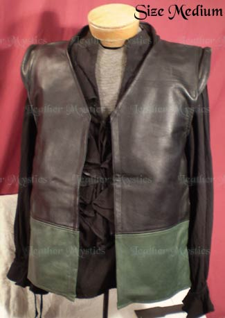 pirate leather vest