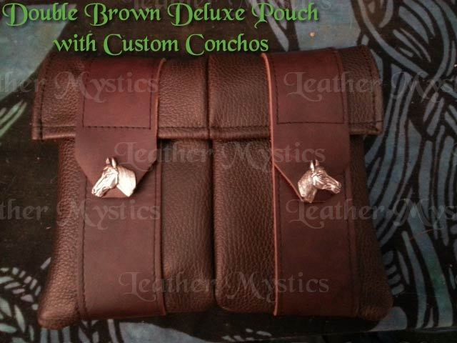 leather hip pouch brown made in usa