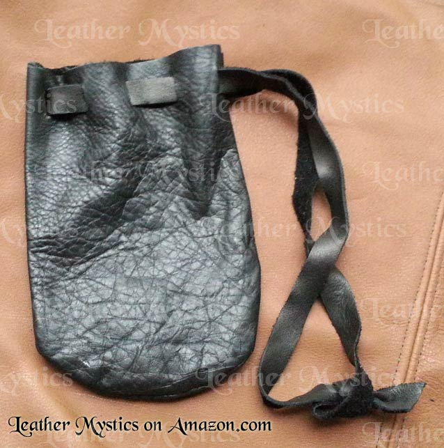 leather dice bag pouch