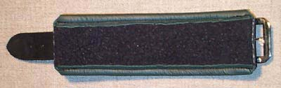 fleece lining inside leather shackles